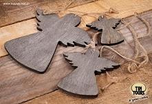 Drewniana zawieszka z 3 aniołami to śliczna ozdoba z duszą...