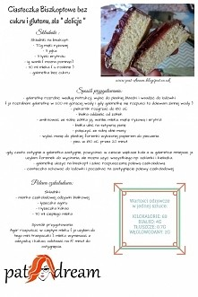 """Bez glutenowe ciasteczka ala """" delicje""""  - bez cukru -   Przepis z bloga  pat-dream.blogspot.co.uk"""