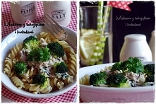 Makaron z tuńczykiem i brokułami.