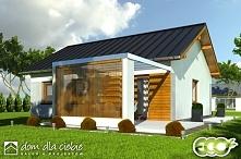 Marcin - projekt niewielkiego domu do 70m2 z poddaszem do adaptacji