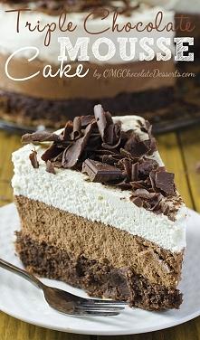 Ciasto z musem z czekolady mlecznej i białej przepis ang. [klik] Składniki Na...