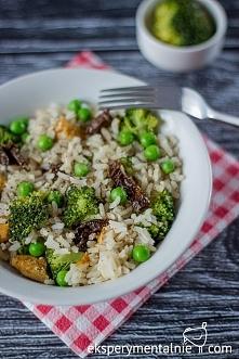 Smażony ryż z kurczakiem i brokułami - prosty przepis na obiad / Fried rice w...