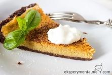 Tarta z dynią na kakaowym spodzie - bezglutenowa / Gluten free Pumpkin Tart Recipe