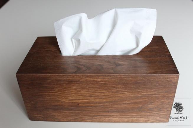 Pudełko na chusteczki  Wykonane ręcznie, drewno dąb.