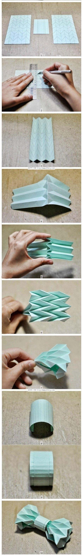 Bardzo ładna papierowa kokardka.