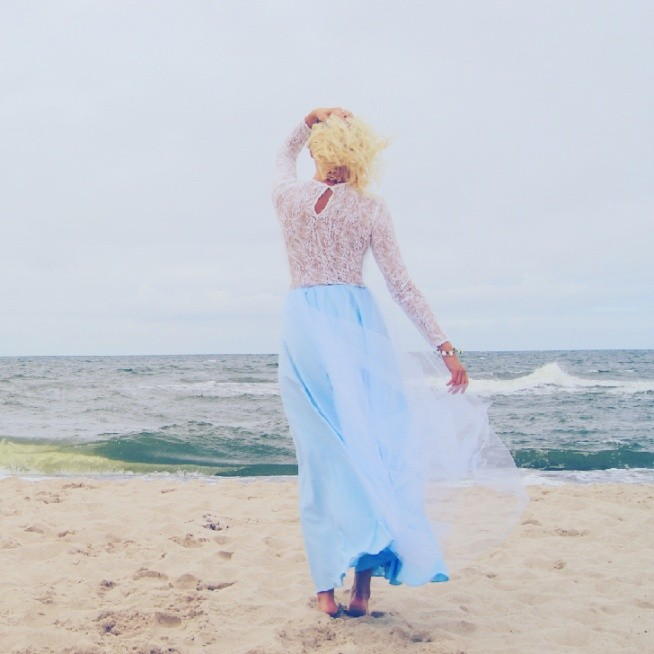 Baby Blue Long ❤ ❤ ❤  instagram @wonderaland_tulle   Fb @WonderAland  #WonderAland #WonderBow #tiul #tiulowa #tiulowaspodnica #tulle #tulleskirt #sea #babyblue #Beach to
