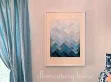 tutorial - nowoczesny, geometryczny obraz na ścianę [klik]