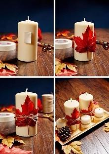 Idzie jesień, może ładny stroik na stół albo komodę? :) Jakiś kolorowy liść, ...