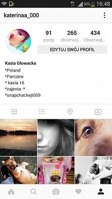 zapraszam na mojego instagrama