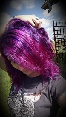 fiolet + róż purple dream + hot hot pink Manic Panic