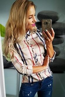 Elegancka koszula z kratą Burberry -> Idealna na jesień --> fashionata.pl