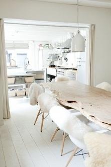 piękna jadalnia w stylu skandynawskim, dekoracje skandynawskie