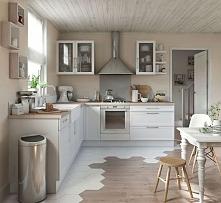 dekoracja kuchni, dekoracyjna podłoga w kuchni