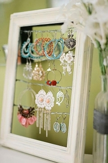 Even if the glass has broken in a picture frame, it can still become an earri...