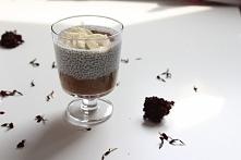 Super zdrowy pudding chia z dodatkiem kawowo-bananowego musu. Niebo w gębie! :)