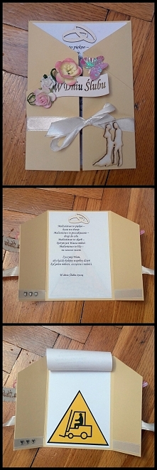 kartka ślubna - scrapbookin...