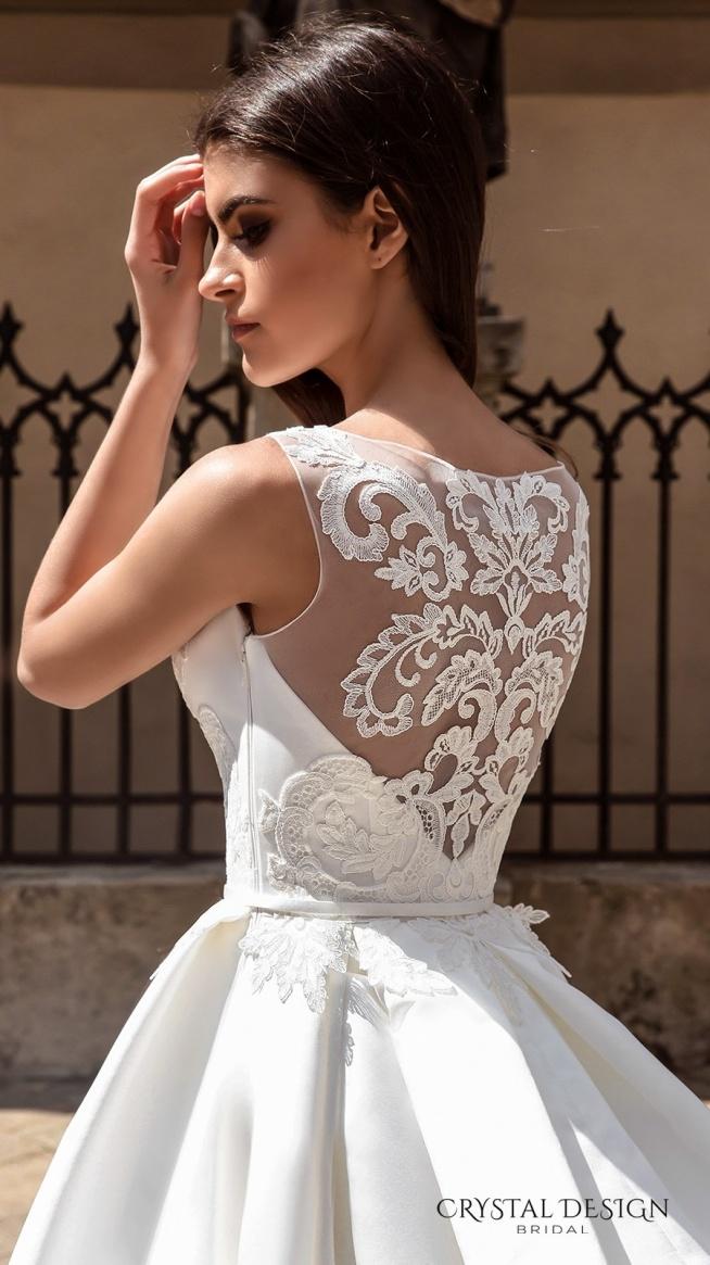 Suknia ślubna Z Koronkowym Wzorem Na Plecach Na Sukienki Zszywkapl