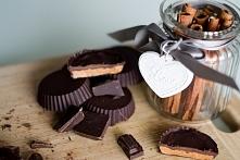 Kultowe Reese's w zdrowszej wersji. Składniki: czekolada gorzka masło orzecho...