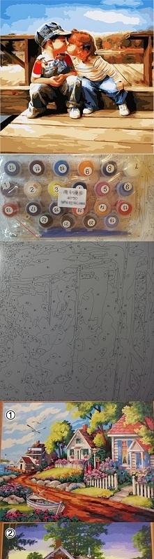 Malowanie po numerkach. Odsprzedam szt 65zł + koszt wysyłki. Wymiar 40x50 W Komplecie: Farby ( wystarczają w zupełności na cały obraz), 3 pędzelki różnej grubości, ściągawka na ...
