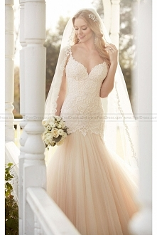 Martina Liana Fit And Flare Wedding Dress With Lace Bodice Style 820