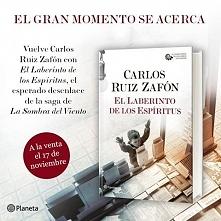 "Carlos Ruiz Zafón powraca z książką ""Labirynt duchów"""