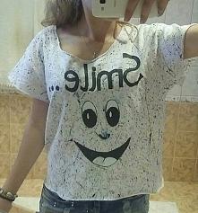 kolejne diy =D  koszulka SMILE =D