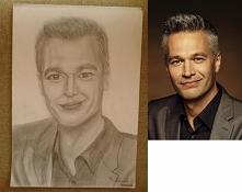 Portret Michała Żebrowskiego na podstawie zdjęcia z internetu, Co myślicie?