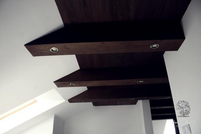 Drewniany dębowy sufit, czemu nie! :D Wykonanie ręczne, drewno dąb.