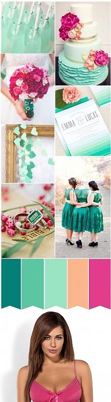 Inspiracje ślubne + Bielizna damska na noc poślubną w kolorystyce weselnej