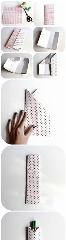 Jak wykonać papierowe etui ...
