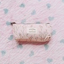 pencil case, pink, school