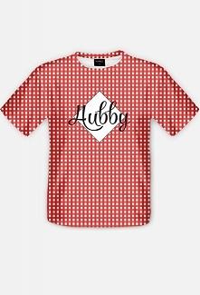 Koszulka w kratkę z napisem Hubby :) dla męża