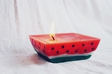 Diy arbuzowa świeczka