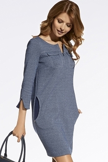 Stylowa propozycja na jesień ! Sukienka a'la jeans z kieszeniami i rękawem za łokieć. Kochacie takie sukienki ?