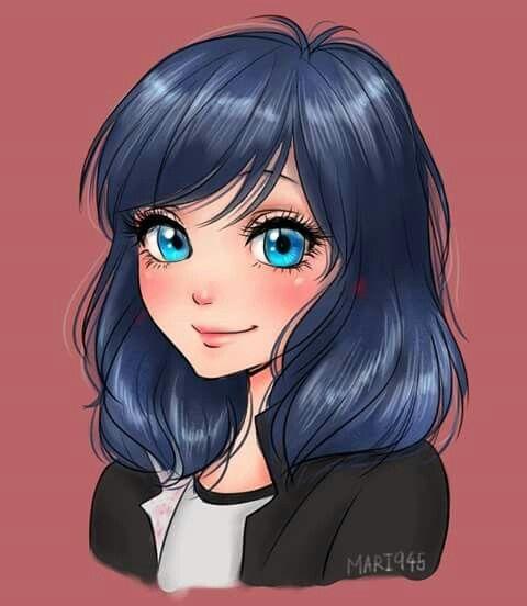 Marinette z rozpuszczonymi włosami ♥