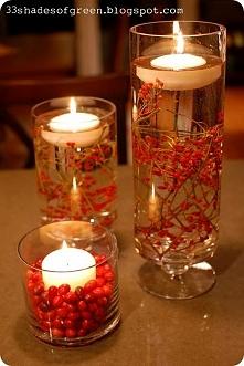 Dekoracja jesienna z jarzębiną