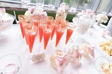 Blush pink & champagne glitter Candy Bar