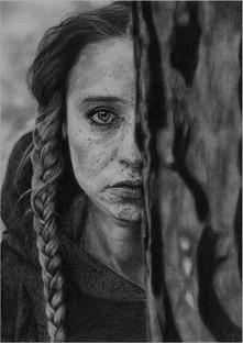 Rysunek ołówkiem na podstawie zdjęcia wykonanego przez Ignacego Tokarczyka