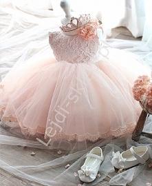 różowa sukienka dla dziewczynki