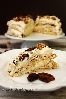 Bezowy tort dacquoise - Wypieki Beaty