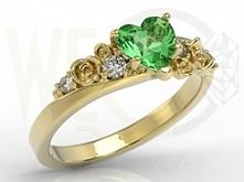 piękny z zielonym topazem