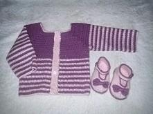 komplet sweterek i buciki z...
