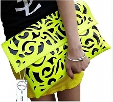 Cudowna duża kopertówka! Ażurowy wzór i piękny żółty kolor. Kliknij w zdjęcie a przeniesie Cię do sklepu!