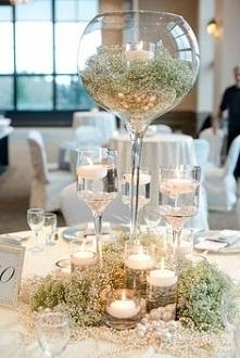 pomysł na dekorację stolików