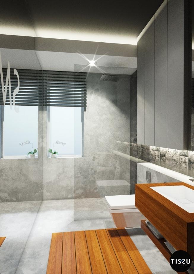 łazienka Na Parterze Na Nowoczesna Willa W Milanówku