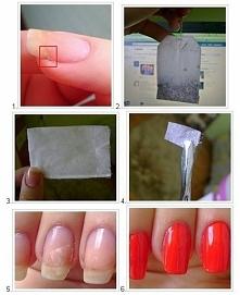 Świetny sposób na naderwanego paznokcia! ;)