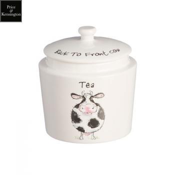 Pojemnik na herbatę z krową - Back to Front - Price and Kensington