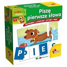 Witajcie,   Piszę Pierwsze Słowa - 2 Gry Lisciani P54992 do nauki czytania i pisania dla dzieci od 3-6 lat.   Dziecko układa pierwsze słowa, używając auto korygujących puzzli: k...