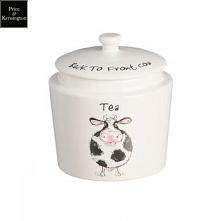 Pojemnik na herbatę z krową...