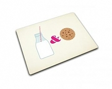 Prostokątna podstawka ze szkła hartowanego, Milk&Cookies (40x30 cm) - Joseph Joseph